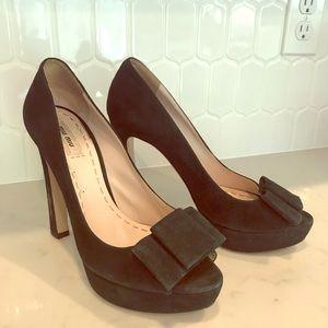 Miu Miu by PRADA Green Platform Heels 39.5